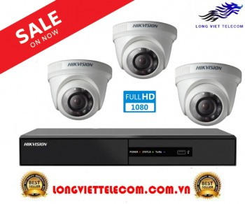 Trọn gói 3 camera HIKVISION | 2MP